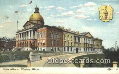 cap001995 - Boston, Massachusetts, MA State Capital, Capitals Postcard Post Card USA