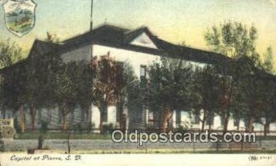 cap001997 - Pierre, South Dakota, SD State Capital, Capitals Postcard Post Card USA