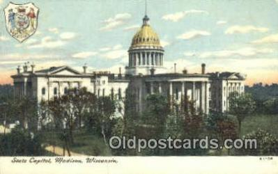 cap002005 - Madison, Wisconsin, WI State Capital, Capitals Postcard Post Card USA