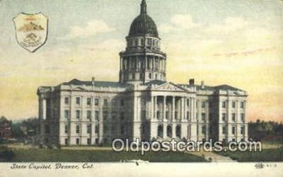 cap002007 - Denver, Colorado, CO State Capital, Capitals Postcard Post Card USA