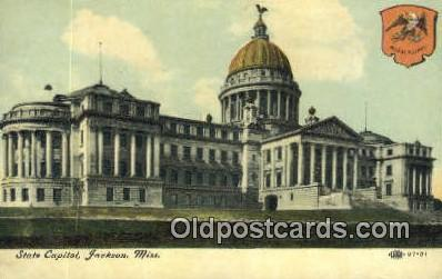 cap002019 - Jackson, Mississippi, MS State Capital, Capitals Postcard Post Card USA