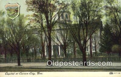 cap002021 - Carson City, Nevada, NV State Capital, Capitals Postcard Post Card USA
