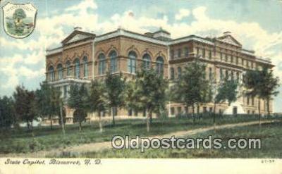 cap002023 - Bismarck, North Dakota, ND State Capital, Capitals Postcard Post Card USA