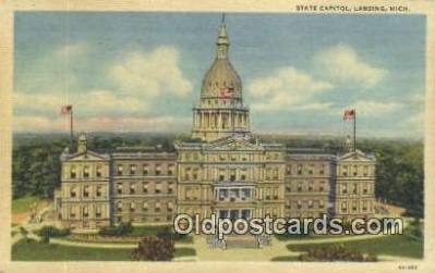 cap002030 - Lansing, Michigan, MI  State Capital, Capitals Postcard Post Card USA