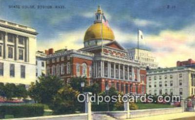 cap002049 - Boston, Massachusetts, MA State Capital, Capitals Postcard Post Card USA