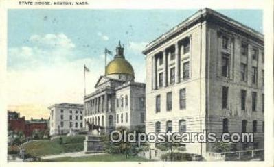 cap002055 - Boston, Massachusetts, MA State Capital, Capitals Postcard Post Card USA