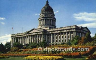cap002091 - Salt Lake City, Utah, UT  State Capital, Capitals Postcard Post Card USA
