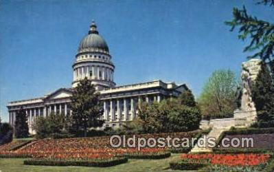 cap002092 - Salt Lake City, Utah, UT  State Capital, Capitals Postcard Post Card USA