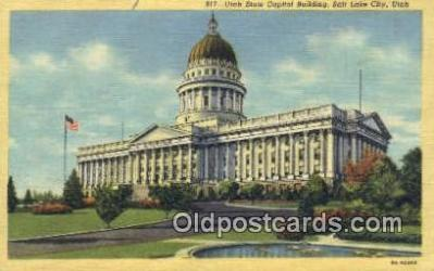 cap002093 - Salt Lake City, Utah, UT  State Capital, Capitals Postcard Post Card USA