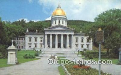 cap002095 - Montpelier, Vermont, VT State Capital, Capitals Postcard Post Card USA