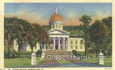 cap002099 - Montpelier, Vermont, VT State Capital, Capitals Postcard Post Card USA