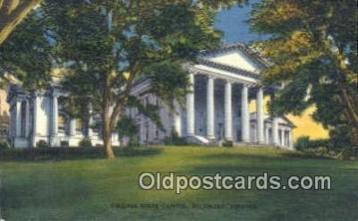 cap002100 - Richmond, Virginia, VA  State Capital, Capitals Postcard Post Card USA