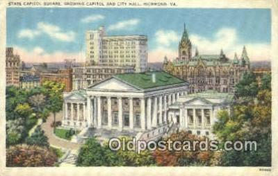 cap002101 - Richmond, Virginia, VA  State Capital, Capitals Postcard Post Card USA
