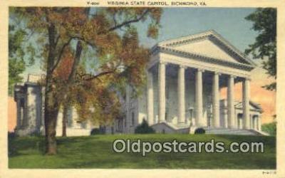 cap002102 - Richmond, Virginia, VA  State Capital, Capitals Postcard Post Card USA