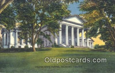 cap002105 - Richmond, Virginia, VA  State Capital, Capitals Postcard Post Card USA