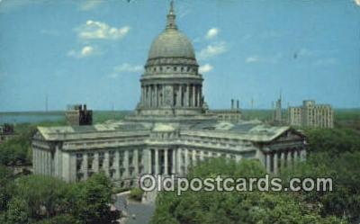 cap002115 - Madison, Wisconsin, WI State Capital, Capitals Postcard Post Card USA