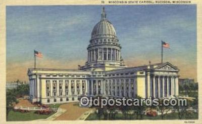 cap002121 - Madison, Wisconsin, WI State Capital, Capitals Postcard Post Card USA