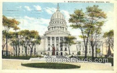 cap002122 - Madison, Wisconsin, WI State Capital, Capitals Postcard Post Card USA