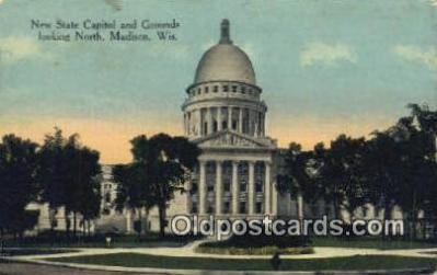 cap002123 - Madison, Wisconsin, WI State Capital, Capitals Postcard Post Card USA
