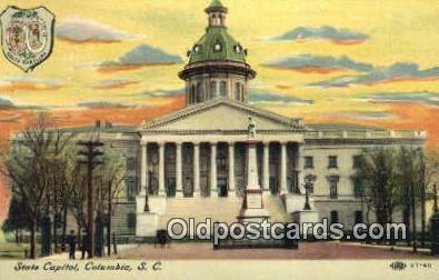 cap002131 - Columbia, South Carolina, SC State Capital, Capitals Postcard Post Card USA