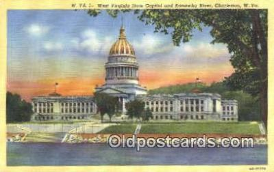 cap002140 - Charleston, West Virginia, WV State Capital, Capitals Postcard Post Card USA