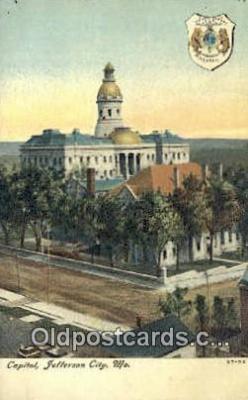 cap002155 - Jefferson City, Missouri , MO State Capital, Capitals Postcard Post Card USA