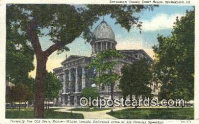 cap002175 - Springfield, Illinois, IL State Capital, Capitals Postcard Post Card USA