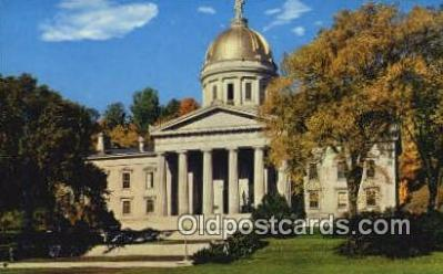 cap002189 - Montpelier, Vermont, VT State Capital, Capitals Postcard Post Card USA