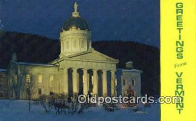 cap002191 - Montpelier, Vermont, VT State Capital, Capitals Postcard Post Card USA