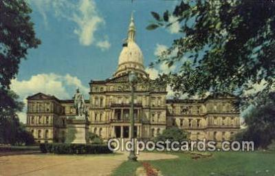 cap002217 - Lansing, Michigan, MI  State Capital, Capitals Postcard Post Card USA