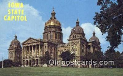 cap002230 - Des Moines, Iowa, IA  State Capital, Capitals Postcard Post Card USA