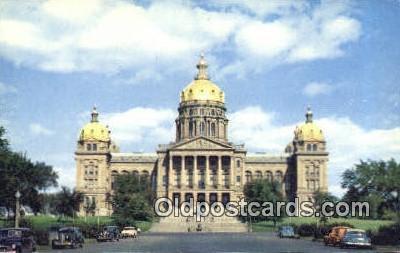cap002232 - Des Moines, Iowa, IA  State Capital, Capitals Postcard Post Card USA