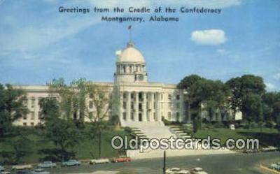 cap002234 - Montgomery, Alabama, AL  State Capital, Capitals Postcard Post Card USA