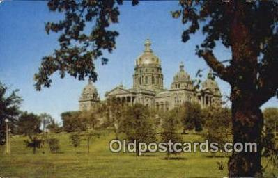 cap002250 - Des Moines, Iowa, IA  State Capital, Capitals Postcard Post Card USA