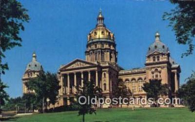 cap002251 - Des Moines, Iowa, IA  State Capital, Capitals Postcard Post Card USA