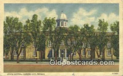 cap002267 - Carson City, Nevada, NV State Capital, Capitals Postcard Post Card USA