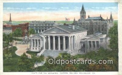 cap002281 - Richmond, Virginia, VA  State Capital, Capitals Postcard Post Card USA