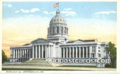 cap002284 - Jefferson City, Missouri , MO State Capital, Capitals Postcard Post Card USA