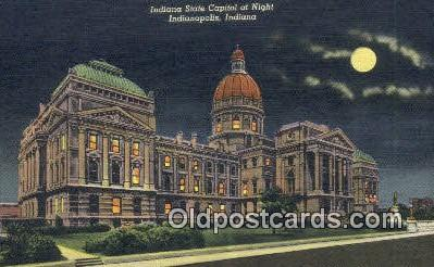cap002294 - Indianapolis, Indiana, IN State Capital, Capitals Postcard Post Card USA