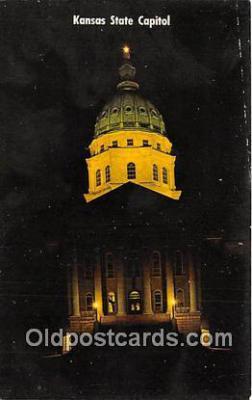 cap002309 - Kansas State Capitol Topeka, Kansas, USA Postcard Post Card