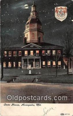 cap002316 - State House Annapolis, MD, USA Postcard Post Card