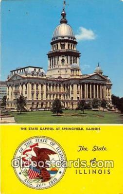 cap002319 - State Capitol Springfield, Illinois, USA Postcard Post Card