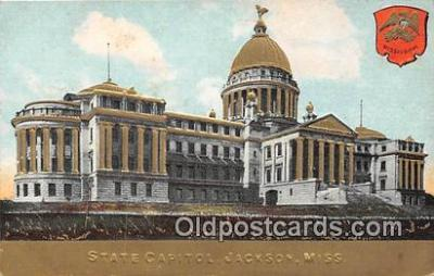 cap002326 - State Capitol Jackson, Miss, USA Postcard Post Card