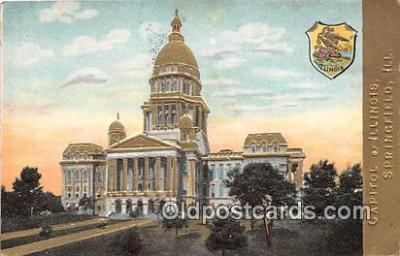 cap002328 - Capitol of Illinois Springfield, Illinois, USA Postcard Post Card