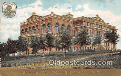 cap002330 - State Capitol Bismarck, ND, USA Postcard Post Card