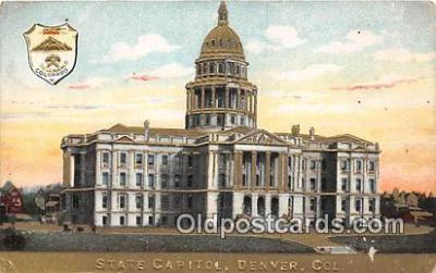 cap002336 - State Capitol Denver, Colorado, USA Postcard Post Card