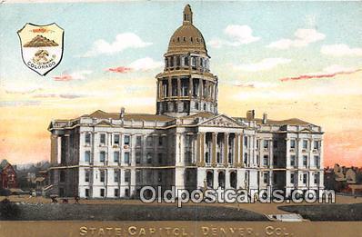cap002337 - State Capitol Denver, Colorado, USA Postcard Post Card