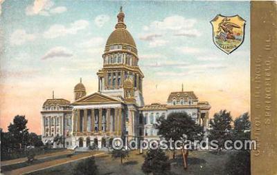 cap002348 - Capitol of Illinois Springfield, Illinois, USA Postcard Post Card
