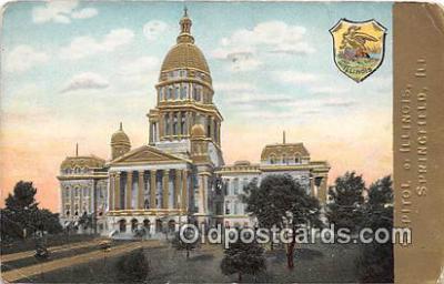 cap002349 - Capitol of Illinois Springfield, Illinois, USA Postcard Post Card