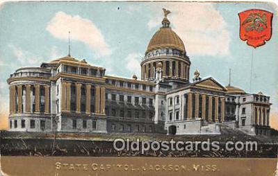 cap002357 - State Capitol Jackson, Miss, USA Postcard Post Card